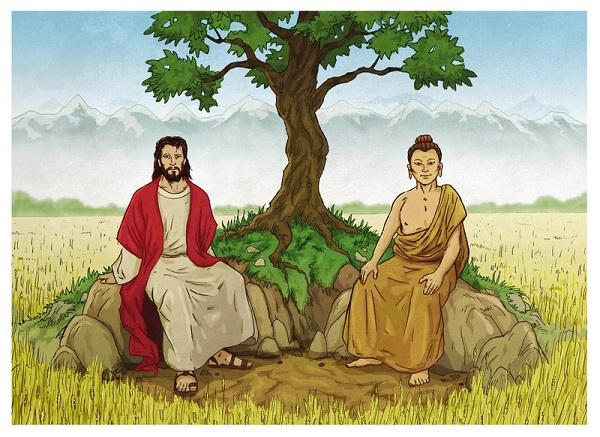 Buddha and Christ