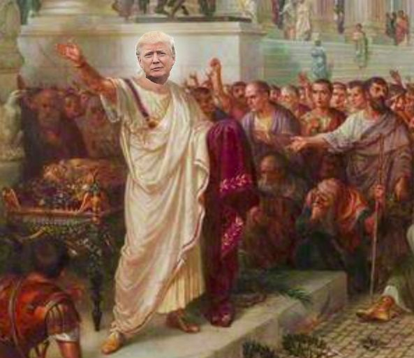 Trump as Caesar