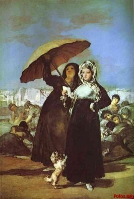women under umbrella